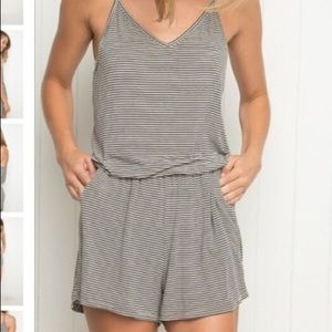 Brandy Melville striped Joyce romper